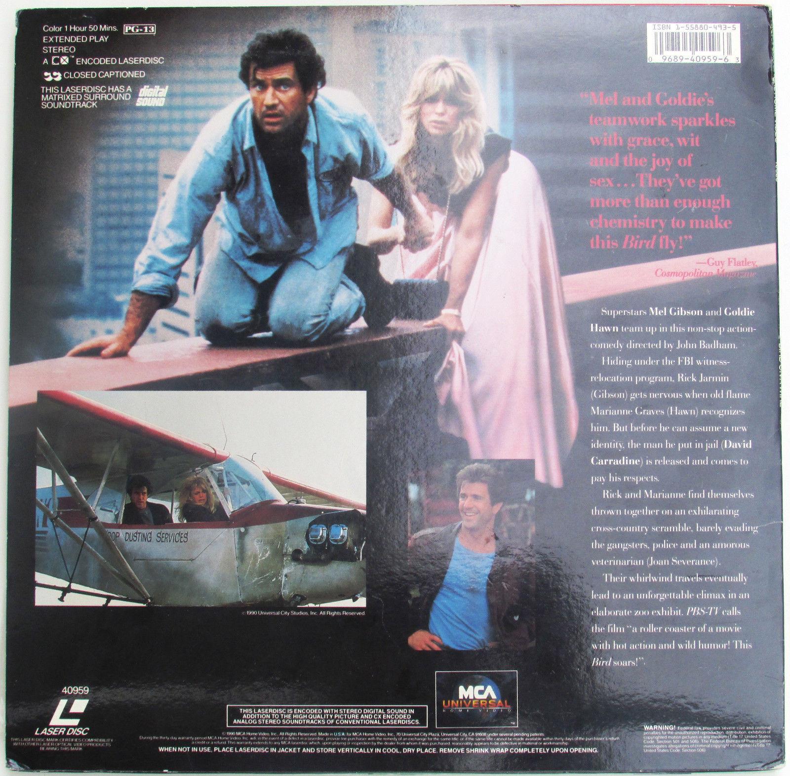Bird on a Wire on Laserdisc 1990 Mel Gibson and Goldie Hawn Movie