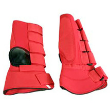 Large Hilason Western Horse Tack 4 In 1 Horse Leg Combo Boots Red U-L-RD - $32.95