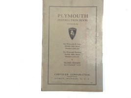 1935 Plymouth Instruction Book (Code P1, P2) Second Edition OEM Chrysler - $19.99
