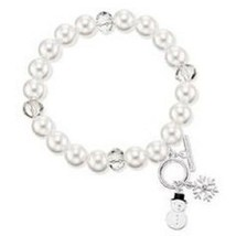 Avon Whimsy Winter Snowman Stretch Bracelet - $11.99