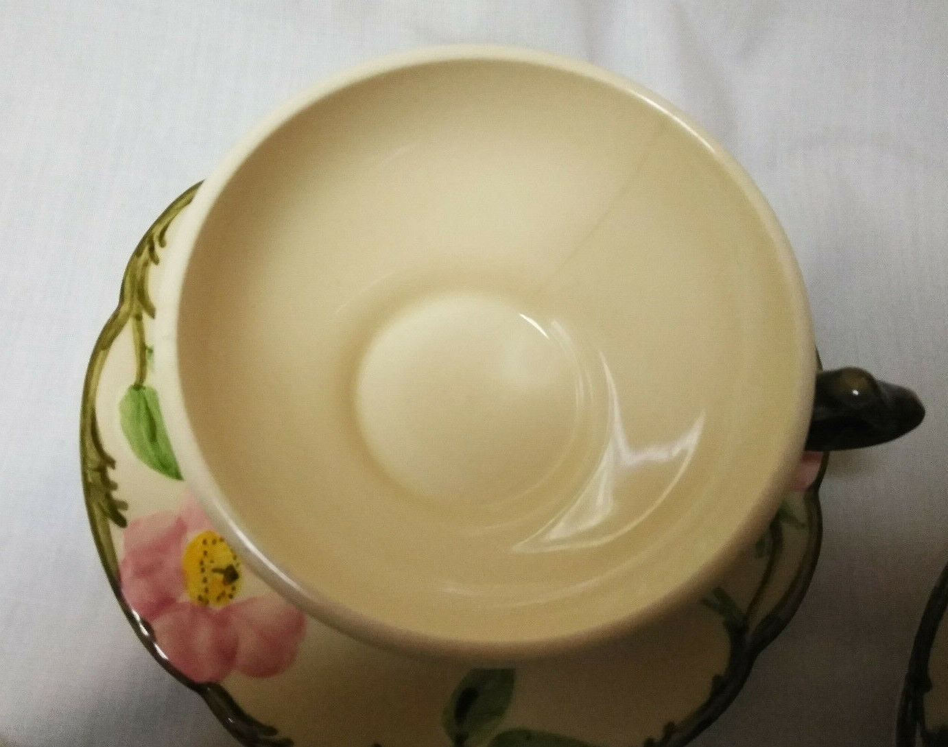 Vintage Desert Rose Franciscan China Set of 3 Tea cups & Saucers, Coffee cup