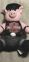 Official Harley Davidson Biker Hog Pig Plush Stuffed Animal Toy 1993 w/ Tag   - $23.74