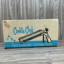 Vintage Cookie Press Pastry Decorator Trig-O-Matic Holiday Baking Christ... - $29.98