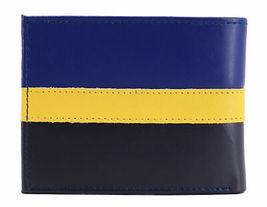 Tommy Hilfiger Men's Leather Wallet Passcase Billfold Rfid Navy Black 31TL220053 image 5