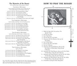 How to Say the Rosary with Luminous Mysteries Leaflet (Pack of 100) image 2