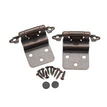 Pair 2 pcs Self Closing Cabinet 3/8 Offset Inset Hinges Bronze ORB 62727 - $1.68