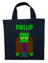 Frankenstein Trick or Treat Bag - Personalized Frankenstein Halloween Lo... - $11.99+