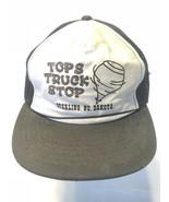 Vintage Mesh Trucker TOPS Truck Stop Sterling, N Dakota White Black Mesh... - $19.59