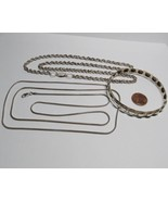 Fool The Tourist Mexico Marked 925 Low Silver 3 PC Lot Necklace Bangle B... - $27.72