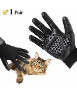 Pet Grooming Glove, Cat Horse & Dog Deshedding Gloves Soft Rounded (Black) - $20.14