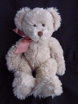 Russ Berrie Plush Tan Bear named ALANNA Stuffed Animal - $17.59