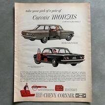 Vintage Chevrolet Corvair Monza Photo Print Magazine Ad Chevy 1961 - $19.79