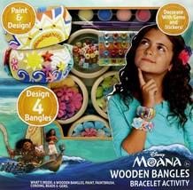 New Moana Wooden Bangles Bracelet Activity Kit - $11.64