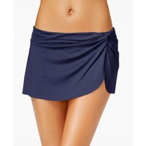 NEW Anne Cole NAVY Blast Solid Sarong Skirted Swimwear Bikini Bottom XS... - $24.70