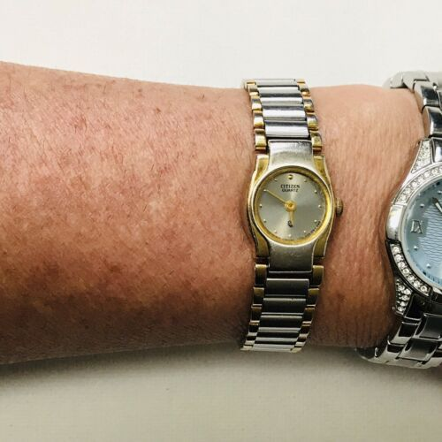 "Vintage Citizen Elegant Two Tone 6"" MAX Ladies Watch 3220-S09826 Works GREAT!! image 8"