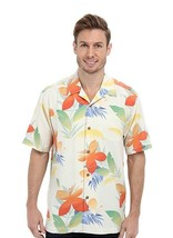 Tommy Bahama New Print On The Block 100% Silk Camp Shirt, Continental Si... - $69.75