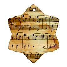 Beautiful Piano Music Notes Procelain Ornaments (Snowflake) Christmas - $3.99