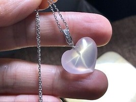 Natural rose crystal Ball pendant Star Light Silver 925 Necklace ReikIi ... - $35.59