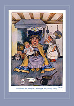 The Duchess & Crying Baby Alice in Wonderland by Milo Winter 1916 Tipped... - $16.90