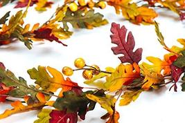 CraftMore Fall Oak Leaf with Berries Garland 6' image 3