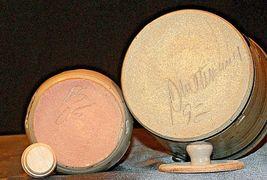 Daviess County Westerwald Stoneware Honey Pot Lid Stir Stick & Bowl with handle image 9