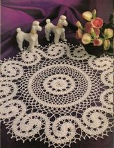 Ovalissimo Oval Table Top Mat Winsome Scrolls Golden Palms Doily Crochet Pattern image 3