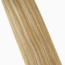 Hetto Double Sided Human Hair Extensions #14 Dark Blonde and #613 Blonde Human H image 4