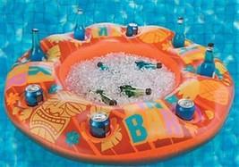 Floating Bar Inflatable pool Float Drink Holder Tiki Bar Swim Up Bar Party - $15.97