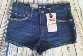 Levis Girls Shorty Short Jet Set Size 6X Reg Adjustable Waist Children 6-7 Years - $6.92