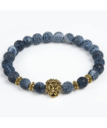 2017 Leopard Tiger Eye Lion Head Bracelet Owl Buddha beads Bracelets Ban... - $13.38