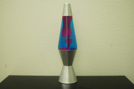 14.5 inch 20oz Lava Brand Motion Lamp Blue Liquid Purple Wax - $29.95