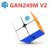 GAN249 V2 Non Magnetic 2x2x2 Magic cube 2x2 speed cube puzzle GAN 249 V2  - $20.40