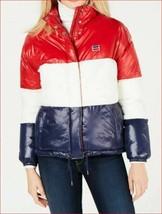 new Levi's women jacket coat LW8RN905 red white blue sz M - $73.68