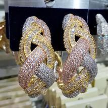 Infinity Cubic Zircon Big Hoop Earrings For Women - $75.29+