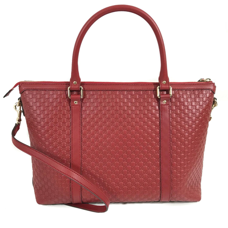 NEW GUCCI Microguccissima Leather Zip Top Crossbody Handbag image 4