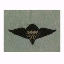 ARMY EMBROIDERED BADGE: PARARIGGER EMBROIDERED WITH BLACK THREAD ON ABU ... - $13.84