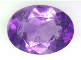 1.10 CT NATURAL AMETHYST LOOSE GEMSTONES PURPLE OVAL FACETED CUT 6.03 X ... - $15.87
