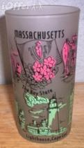 1960'S RETRO HAZEL ATLAS-- FROSTED SOUVENIR WASHINGTON DC GLASS TUMBLER - $14.95