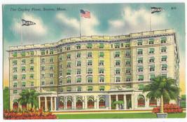 Boston MA Mass Copley Plaza Linen Vintage Postcard - $5.95