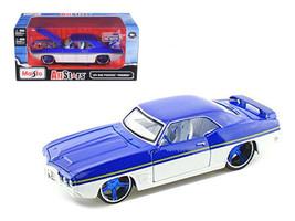 "1969 Pontiac Firebird Blue / White ""All Stars"" 1/24 Diecast Model Car by... - $50.99"