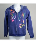 Hanes Soft Sweats Girls Zip Front Hoodie Jacket Size XL - $12.86