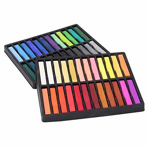 Square Artist Pastels, 48 Assorted Colors Set