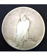 1934 S Peace Silver Dollar, Worn, Fine Condition, 90% Silver,  - $30.00