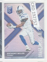 2017 Panini Elite Draft Anthony Miller RC Memphis Tigers  #135 192757 - $1.86