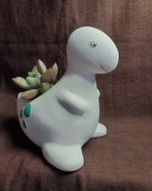 "Hand-Painted Dinosaur Pot with Live Succulent, 4"", California Sunset Graptosedum image 3"