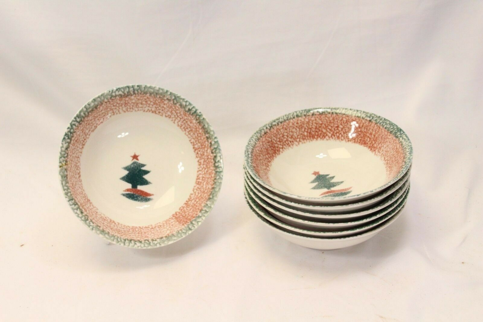"Primary image for Gibson Xmas Star Soup Cereal Bowls 6.25"" Lot of 7"