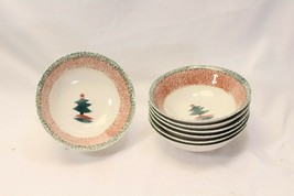 "Gibson Xmas Star Soup Cereal Bowls 6.25"" Lot of 7 - $42.09"