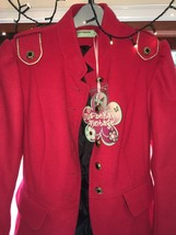 Funky/Punky red SteamPUnk Libertines Style Military Jacket.Size 12  - $74.90