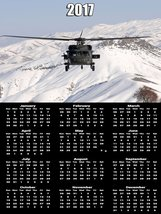 2017 Army Calendar Poster Black Hawk Helicopter Poster Calendar - $29.69