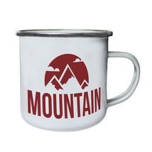 Mountain camping 11 Retro,Tin, Enamel 10oz Mug v233e - $13.13